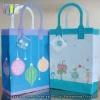 Simple style white cardboard handmade shopping bag