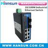 8ports 6RJ45 Industrial Ethernet Switch 10/100M ethernet converter