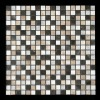 black and white stone mosaic