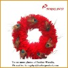 Decorative Goose Feather Wreath
