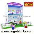 COGO enlighten brick toys town house play set aliexpress