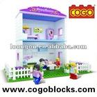 COGO enlighten brick toys town house play set aliexpress