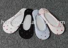 Women's nylon/polyester/spandex boat socks, ship socks,lace socks