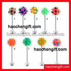 2012new design silicon koosh ball belly button ring