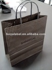 2012 stylish trellis diagram paper shopping bag from manufacturer