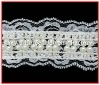Popular new bridal pearl beaded lace trim for dresses
