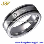tungsten carbide ring CZ tungsten ring