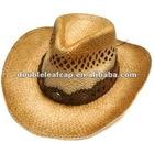Raffia straw cowboy hats