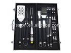 18 pieces aluminum case bbq tools set