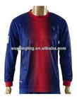 Thai quality Barcelona Home Long sleeve soccer jersey football shirt 2012-2013, customer made uniform