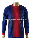 Thai quality Barcelona Home Long sleeve soccer jersey football shirt 2012-2013, customer made uniform