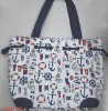 anchor printing canvas sailor bag