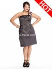 Unique Corsage One Shoulder Sheath Wholesale A-line Plus Size Bridesmaid Dress With Ruched