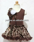 Coffee Tank Top and Giraffe Pettiskirt for Children Baby Pettiskrit Suit Baby Outfit