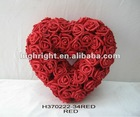 rose artificial wedding heart wreath