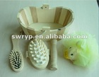 natural wooden bath set