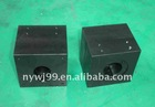 6061-T6 aluminium alloy black anodize cube top shaft block for mass flow control instrument