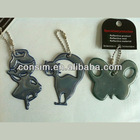 reflective key chains for safety decoration and warning,key hanger