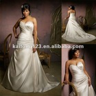 Elegant Sweetheart Asymmetrical A-line Plus Size Wedding Dress