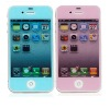 New & hotselling fullbody colorful diamond screen protector for iphone 4
