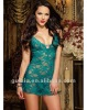 Classic Babydoll with Thong Aquamarine