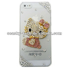 New case for iphone 5g! 3D Bling Crystal Rhinestone Pink Hello Kitty Case, Cover for Apple iPhone 5