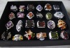 24pcs lot zircon finger ring - big stone rings - fashion ring big stone