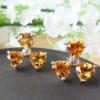 Sterling Silver Honey Clover Stud Earrings e060611agj