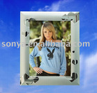 Photo frame plated silver