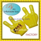 hot promotional plastic air inflatable pvc hand for advertising