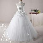 Newest fashionable real wedding dress 2012