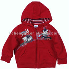 A1181#RED Nova baby boy hooded coat with emboidery