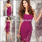 QNPD12207-F 2012 New style Form Fitting Little Purple Colour with embellished Short Strapless Dress