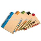 recycle paper spiral notebook with pen