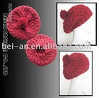 ladies' knitted beret hat