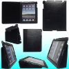 Kickstand Leather Case for iPad 2 in Lichi Veins design