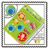 ANIMALS GIRL ECO FRIENDLY FACTORY BADGE STICKERS