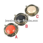 antique silver round resin pendant for necklaces and scarves, PT-703
