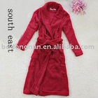 100%cotton jacquard thicken red women bathrobe