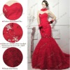 S950 Real Sample Women's Fashion Red Ivory Sheath Sexy Prom Dresses