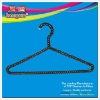 Plastic coated metal wire hanger