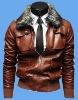 Mens fashion pu leather jacket