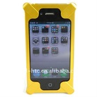 Deluxe Yellow Fashion Interesting Robot HARD CASE COVER for Apple iPhone 4 4G accessories Hardware material