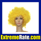 Party Afro Wig for Masquerade Party Yellow