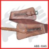 brown lady wide spandex belts with pu trim accessory