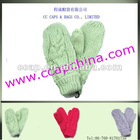 knitted glove with one finger ccap-8037