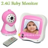3.5 Inch 2.4g Pink Lovely Wireless Baby Monitor With Night Vision