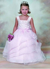 Lilac Ball Gown Organza Flower Girl Dresses Girl Party Dresses