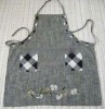 linen cotton embroidered apron