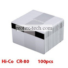 Pack of 100 White Lo-Co Magnetic Stripe PVC Cards